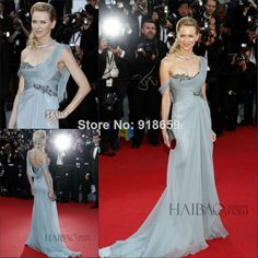 Sexy One Shoulder Long Evening Dress 2014 New Fashion Celebrity Dress Red Carpet Dress 67th tapis rouge cannes Dress $169.99