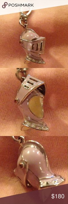 JUICY COUTURE  Knight Helmet sliver charm JUICY COUTURE  2008 Knight Helmet Silver Charm. Excellent condition. No box. Recently sold on eBay as shown in picture four. Reasonable offers are welcome. Juicy Couture Jewelry