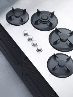 Products we like / Kitchen / Black Metal / Aluminium / Geometry / Minimalist Buttons / at leManoosh