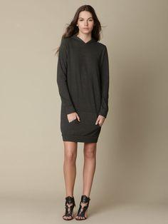 Monrow TRI-BLEND Dress Hoody. oh so comfy.