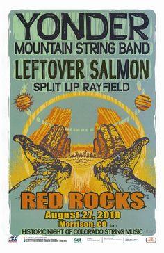 Yonder Mountain String 2010 Red Rocks Concert Poster