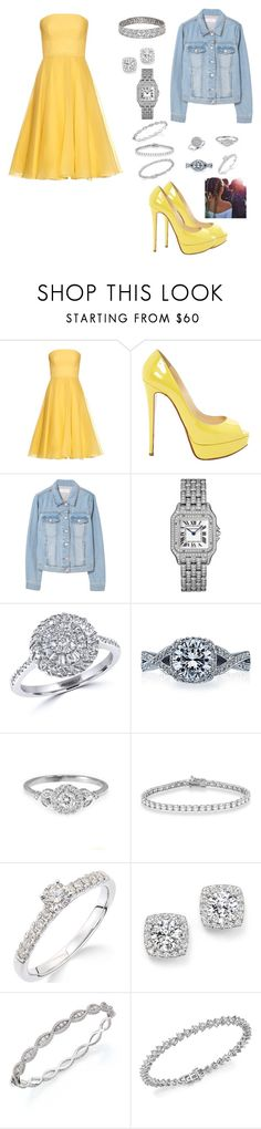 """i be shining"" by lemonsandroses on Polyvore featuring Alexander McQueen, Christian Louboutin, MANGO, Effy Jewelry, Tacori, Allurez, Bloomingdale's and Roberto Coin"
