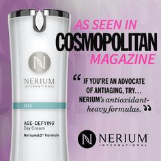 Cosmopolitan highlights Nerium Age-Defying Day Cream as one of the top anti aging options in the industry!