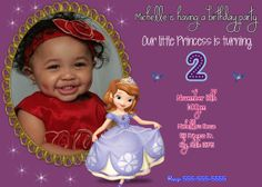 Princess Sofia the First Birthday by stephaniescollection on Etsy, $9.99