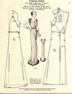 vintage dress pattern - Cerca con Google