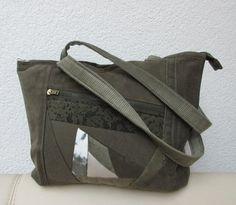 Schultertaschen - Handtasche Tasche Cord OLIVE - ein Designerstück von Gasani…