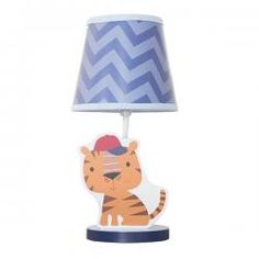 The Baby League Chevron Lamp Base and Shade