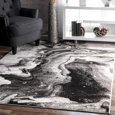 Shop for nuLOOM Contemporary Abstract Grey Rug (5' x 8'). Get free shipping at Overstock.com - Your Online Home Decor Outlet Store! Get 5% in rewards with Club O! - 19991270