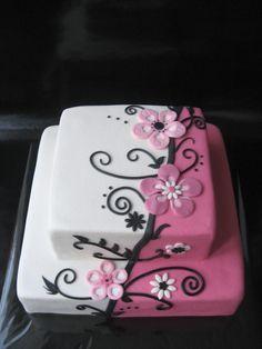 Flower design like Aldoska - I really love Aldoska's cakes and was inspired by her to do this cake.