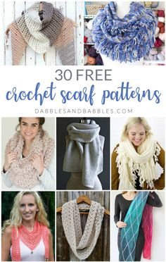 Crochet Flowers Pattern This list has the best patterns for crochet scarves. Pick between traditional scarves, crochet infinity scarves or cowl crochet patterns. These patterns are beginner friendly, perfect for winter and there's a style for everyone. Crochet Flower Patterns, Shawl Patterns, Crochet Flowers, Knitting Patterns, Crochet Ideas, Knitting Ideas, Crochet Projects, Diy Projects, Crochet Scarves