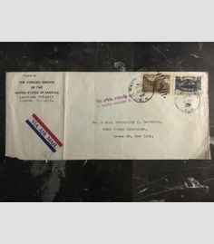 1947 Moscow Russia USSR US Embassy cover USA Diplomatic Mail to Bronx NY 1