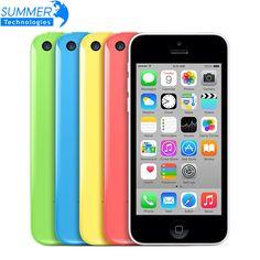 "Originele unlocked apple iphone 5c mobiele telefoons 16 gb 32 gb dual core wcdma wifi gps 8mp camera 4.0 ""mobiele telefoon"