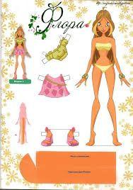 Resultado de imagen para winx club paper dolls