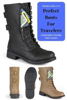13adbfee38c Stand out in stylish combat boots with a zipper pocket from Journee  Collection. Durable faux