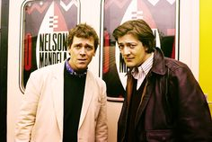 Hugh Laurie and Stephen Fry.  Clearly Hugh has always been sarcastic.