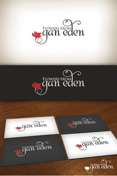 01.09.2013 | Flowers from Gan Eden logo design by RotRed #floral #red #typography