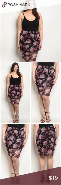 """AMARA FUCSIA MINI Plus size Black fucsia Rose print sleeveless spaghetti strap chiffon line Sexy club wear, mini dress.  Direct buy with us  https://m.facebook.com/modaachiicla/ Please no bundles or offers firm price for better prices visit our fb shop.  Country: USA Fabric Content: 98% POLYESTER 2% SPANDEX Size Scale: 1XL-2XL-3XL Size Ratio: Bundle Ratio: 2-2-2 Description: L: 23"""" W: 3 Dresses Mini"""