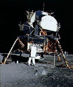 """Eagle"" on the moon"