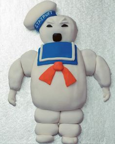 The Ghostbusters Cake is epic on many counts and the fact that it uses the Stay Puft Marshmallow Man as the center piece, which makes it superior to any other renditions out there. Ghostbusters Cake, Ghostbusters Stay Puft, Video Game Party, Party Games, Boy Birthday, Birthday Parties, Birthday Cakes, Stay Puft Marshmallows, Marshmallow Cake
