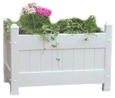 Duratrel 11124 White Large Planter Box for sale online
