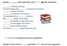 Welcome to our Personal Pronouns worksheets section, where you can find a lot of free printable teaching materials on this topic that you can use in your ESL classroom. Possessive Pronouns, Pronoun Worksheets, Teaching Materials, Classroom Activities, Lesson Plans, The Book, Books To Read, Language, Teacher