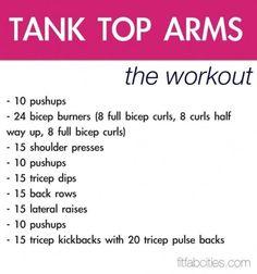 Tank top arms