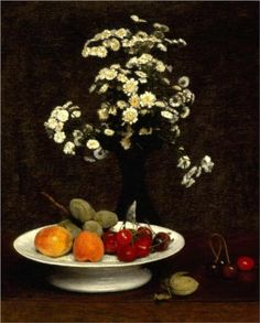 Still Life With Flowers - Henri Fantin-Latour
