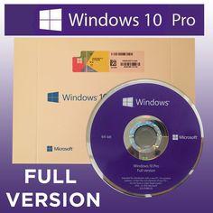Microsoft Windows 10 Pro 64bit DVD  Product Key  Full Version  Free Shipping