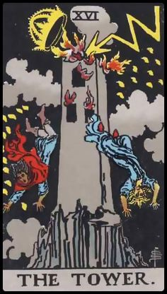 The Tower - Guided Tarot - Source brings us enlightenment from Above - Wisdom. For some this means upheaval for others this means a clear path is now visible and a light is provided for spiritual guidance:
