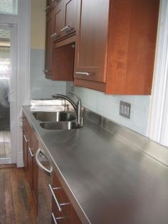 Stainless steel countertops supplier wood countertops for Stainless steel kitchen countertops ikea