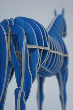 Blue Horse - CNC cut