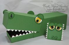 Love this Valentine Gator box...If the jaw isn't jointed....it will be on mine :) Chompers is his name!