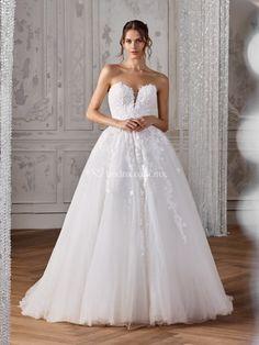 Vestidos de novia corte princesa en mexico