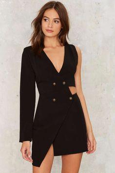Nasty Gal Tux Be a Lady Cutout Dress - Last Chance | Cocktail Dresses | Black Dresses | Dresses