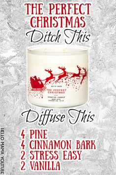 Essential Oils Guide, Doterra Essential Oils, Essential Oils Christmas, Aromatherapy Recipes, Essential Oil Candles, Diffuser Recipes, Essential Oil Diffuser Blends, Candle Diffuser, Young Living