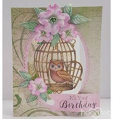 Birthday Hoot Handmade Card - Send an adorable handmade birthday greeting card to that special friend or loved one! Created with art foam paper and the Sugar Hollow Collection and from Heartfelt Creations, this fun yet elegant papercraft is certain to melt the heart of the lucky recipient! Pin for later! #HeartfeltCreations #birthdaycard #handmadebirthdaycard #sugarhollow #papercraft #handmade #craftsupplies #cardmaking #diecutting #stamping #birthday #scrapbooking #owl #foamflowers