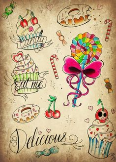 candies tattoo - Buscar con Google