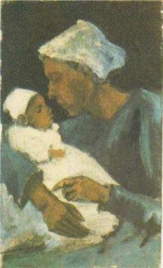 Vincent van Gogh (Dutch: 1853 – 1890) | Woman Sien with Baby on her Lap, Half-Figure (1882)