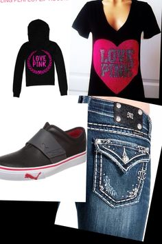 Cute Teen Outfit. Shirt: Victorias Secret, Jacket: Victorias Secret, Jeans: Miss Me, Shoes: Puma.