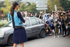 Street style at Paris fashion week spring/summer '14 gallery - Vogue Australia great pleats