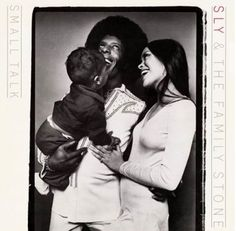 Sly Stone and his then-wife Kathy and their son Sylvester Jr.