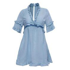 820583e9cb DongDong Womens Sexy Lady V Neck Short Sleeve Bodycon Hollow Ruffle Party  Beacch Dress