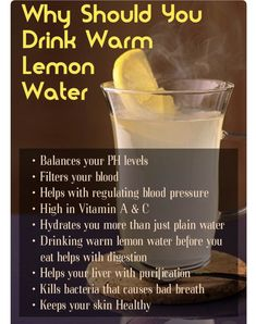 Begin your day off with warm lemon water! This is the most effective fuel for the entire body right off the bat after you wake up. Honey is great with hot lemon water and will give you extra health benefits. Give it a go for a week straight as an alternat Health Facts, Health And Nutrition, Health And Wellness, Health Fitness, Fitness Bodies, Nutrition Drinks, Herbs For Health, Nutrition Guide, Wellness Tips