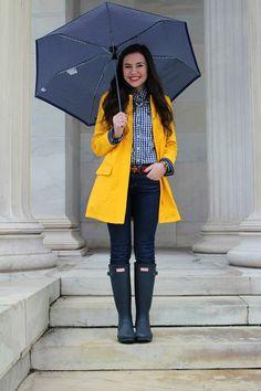 Rain coat Outfit Drawing - Stylish Rain coat Fashion - - Rain coat Drawing For Kids Preppy Mode, Preppy Style, Casual Outfits, Cute Outfits, Fashion Outfits, Fashion Men, Fashion Photo, Hunter Boots Outfit, Hunter Wellies