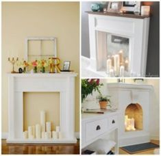 12 Inexpensive Ways to Make Your Apartment a Masterpiece of Design. One little feature can change everything! Classic Fireplace, Fake Fireplace, Fireplace Design, Design Salon, Home Design, Diy Design, Design Ideas, Sweet Home, Diy Casa