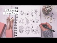 Twelve Easy Flower Doodles You Need To Know - Shayda Campbell Doodle Drawings, Doodle Art, Flower Drawings, Zentangle, Doodle For Beginners, Flower Doodles, Doodle Flowers, Draw Flowers, Mountain Drawing