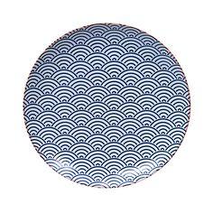 Tokyo Design Studio - Starwave Dinner Plate - Large Wave - Dark Blue/Pink