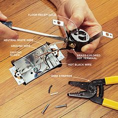 how to repair a cut extension cord plugs power tools and the two how to install a floor outlet