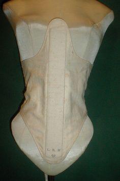 Very RARE 1800 1815 Homespun Linen Corset Provenance | eBay