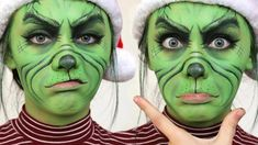 Grinch makeup tutorial #facepainttutorial